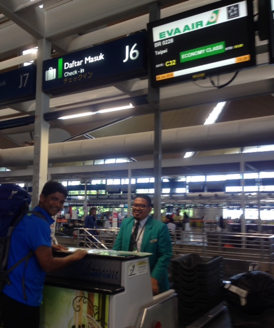 EVA Air check in counter at KLIA